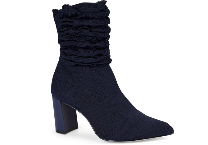 Malha Royal Blue Tall ruffled ankle bootie | Fall 2018