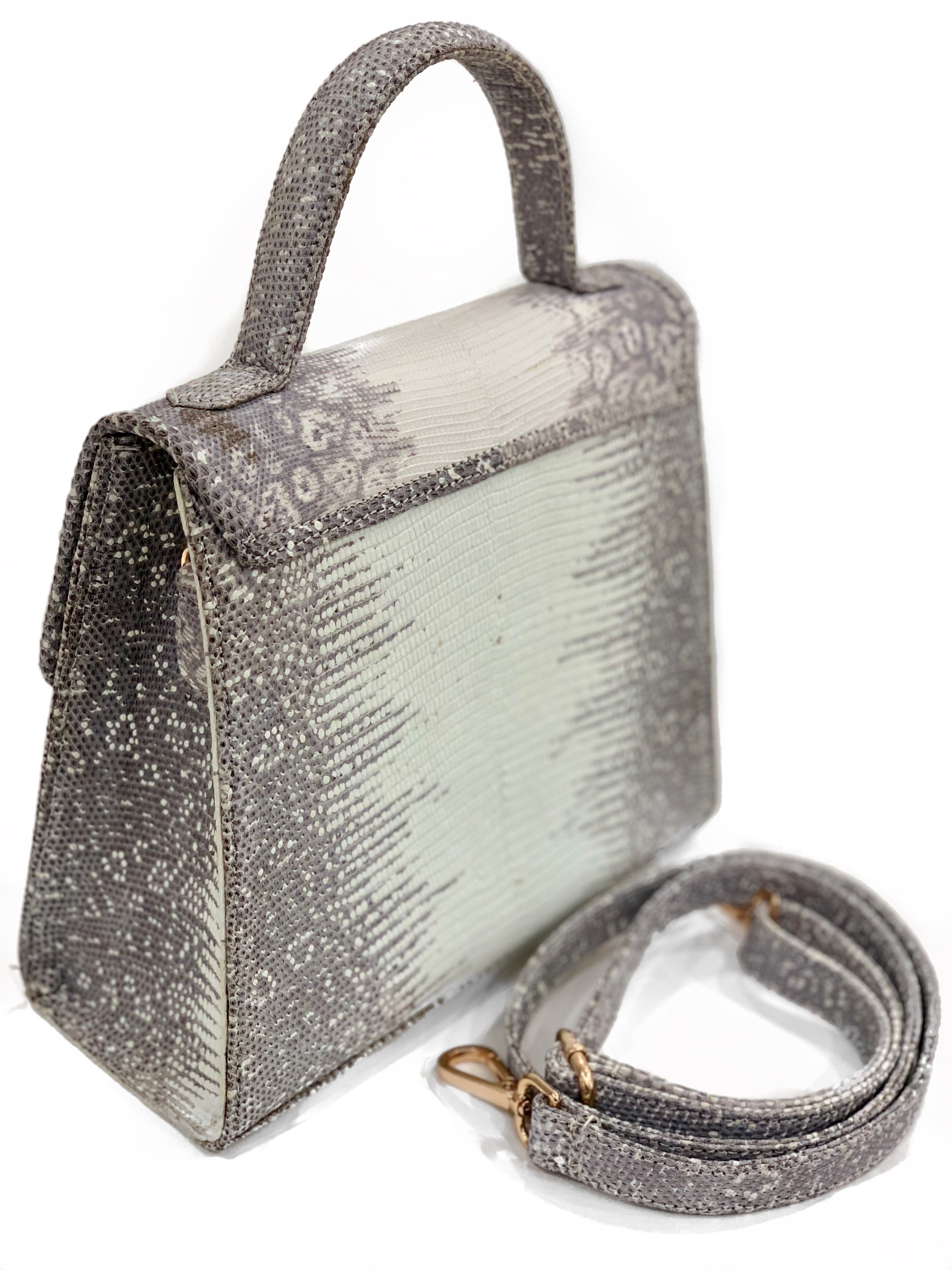 Kelly White and Silver Purse