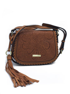 Brown Bohemian Leather Crossbody Bag | Brown Women's Handbags