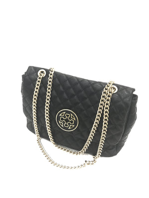 BOY FLAP QUILTED BLACK HANDBAG