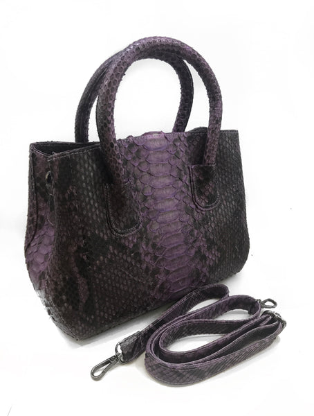 Light Purple Fely Python Purse