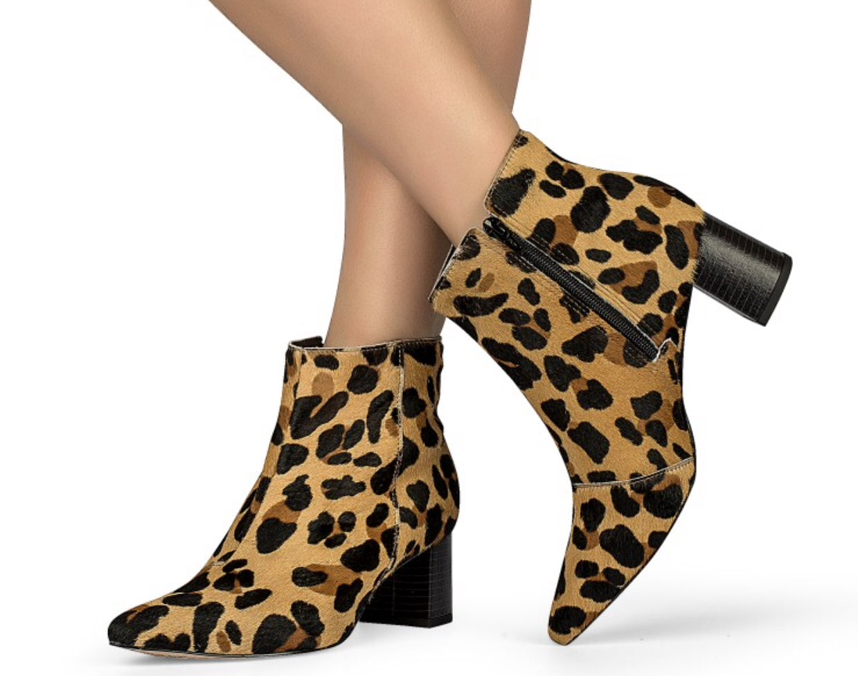 Cheetah Print Low Ankle Bootie | Women's Boot