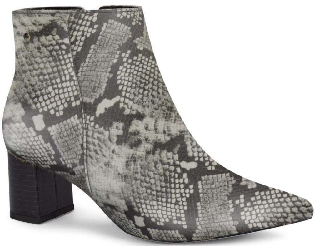 Snake Print Low Ankle Bootie | Women's Boot