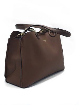 Brown Medium Leather Shoulder Bag | Women's Handbags