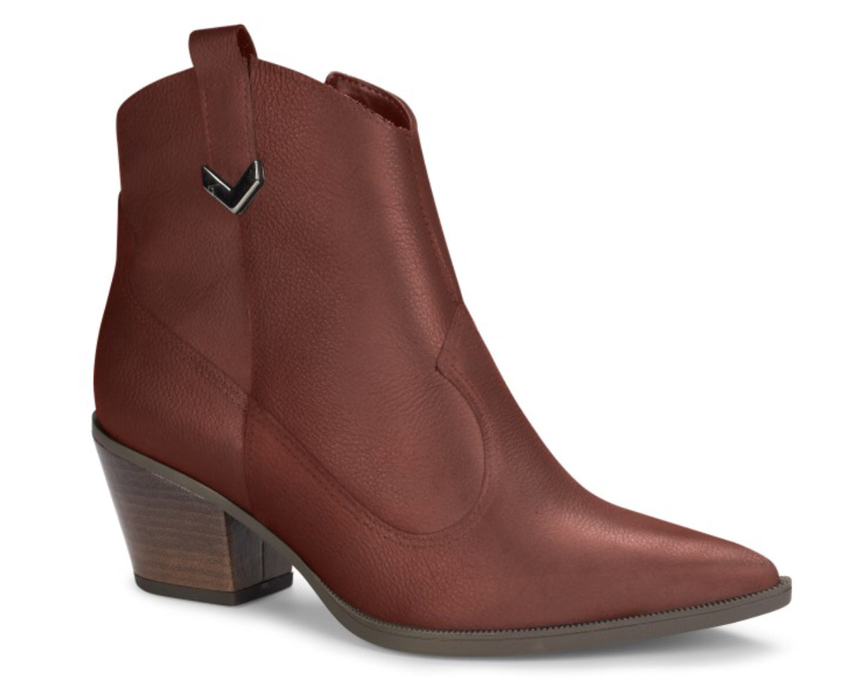 Maroon Leather Low Ankle Boot | Women's Western Boot