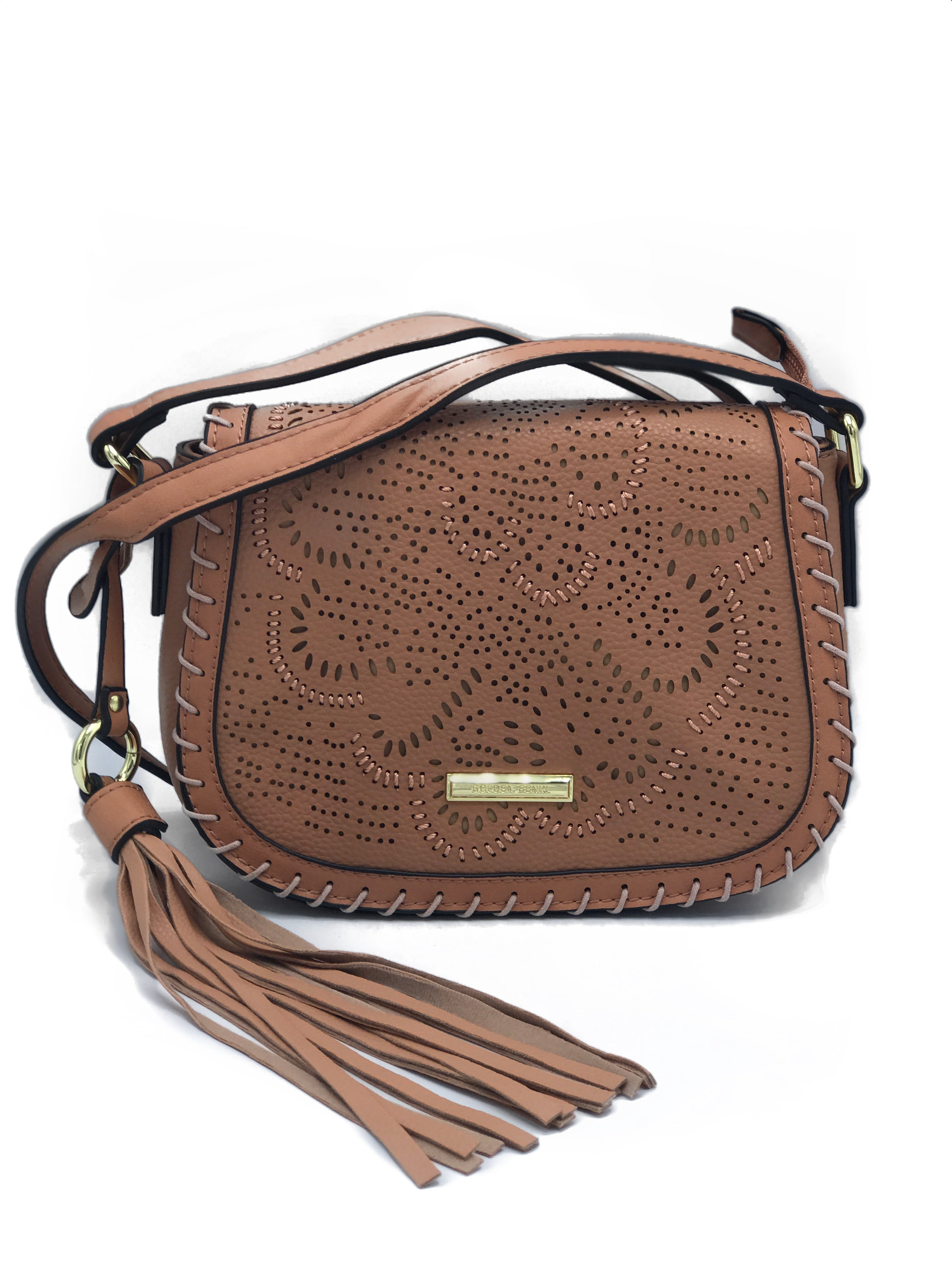 Blush Bohemian Leather Crossbody Bag | Brown Women's Handbags