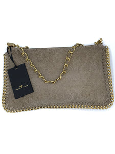 NUDE CHAIN ACCENT EVENING BAG DS2371