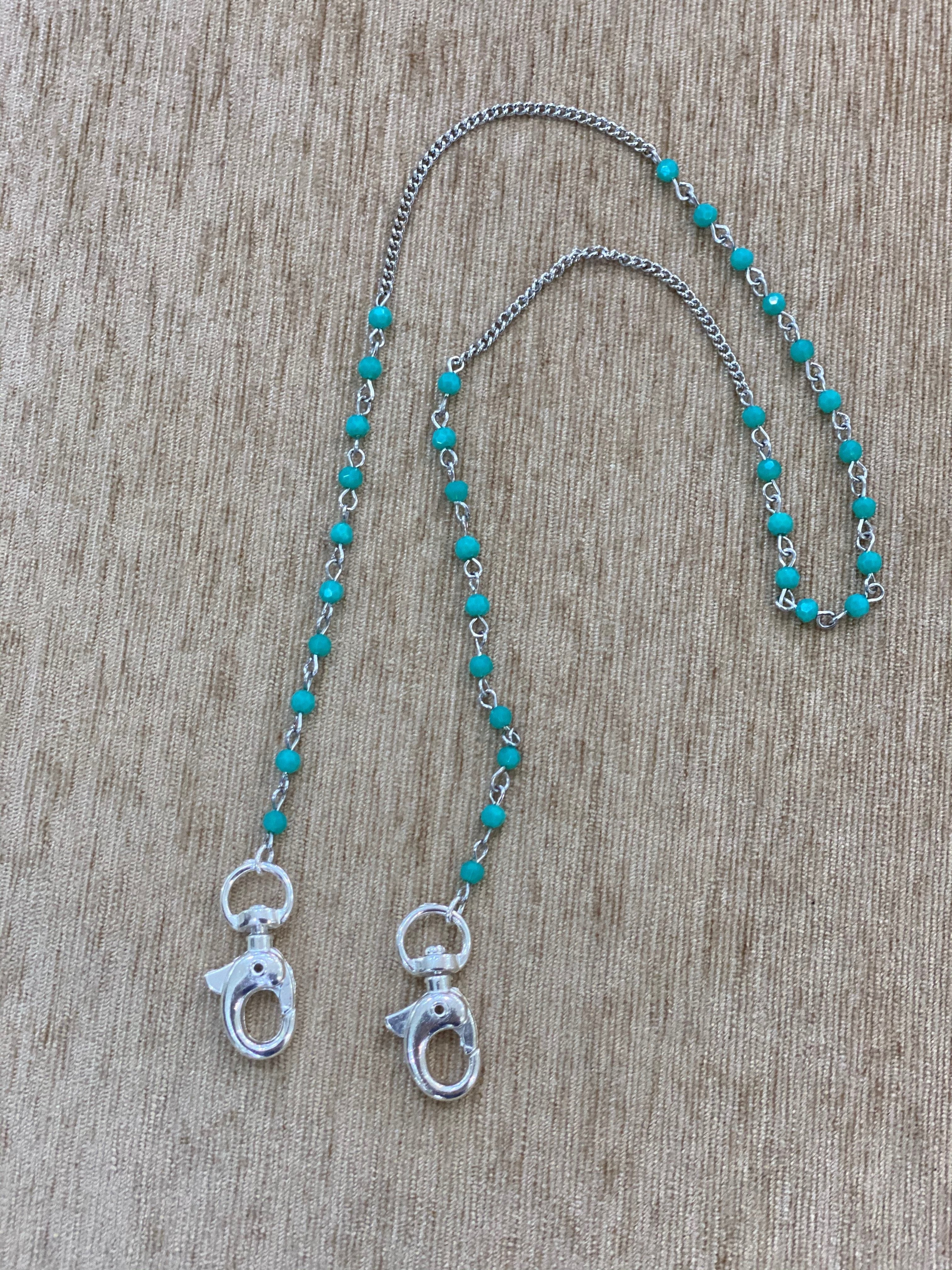 Teal Face-Mask Chain