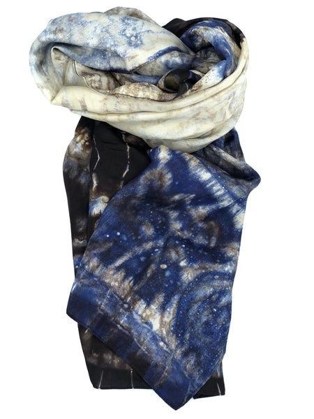 Silk Scarf Multicolor Navy