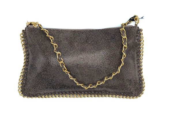 TOFFEE CHAIN ACCENT EVENING BAG DS2371