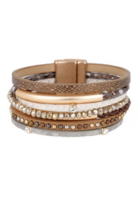 Majorca Multi Strand Leather Bracelet