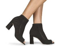 Black Ankle Boot Heel | Women's Shoes