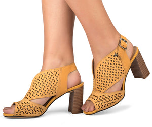 Adriana Yellow Sandal