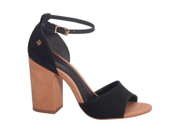 SANDAL OPEN TOE ISABELLA BLACK&BROWN - DPARZ