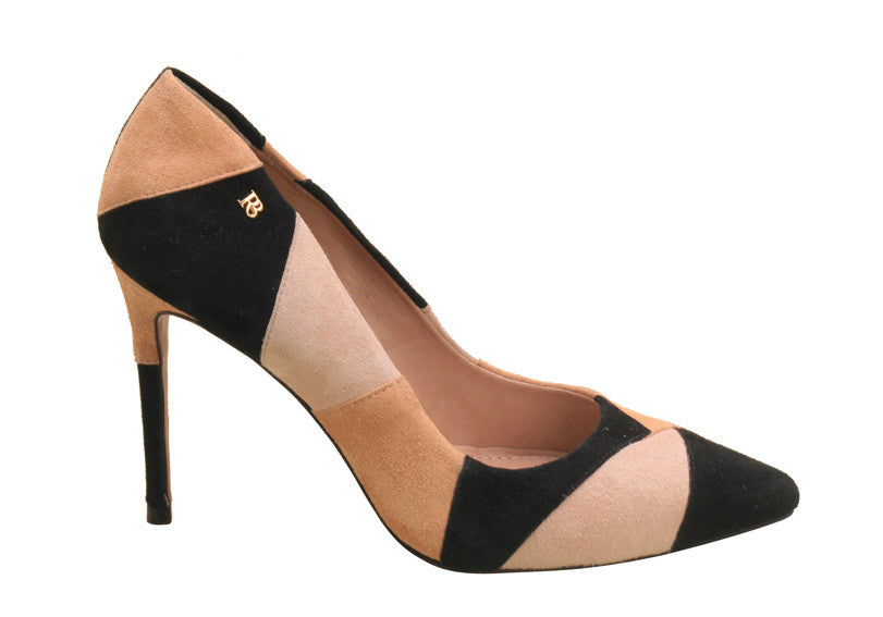 PUMPS GEOMETRIC BEIGE/BLACK - DPARZ