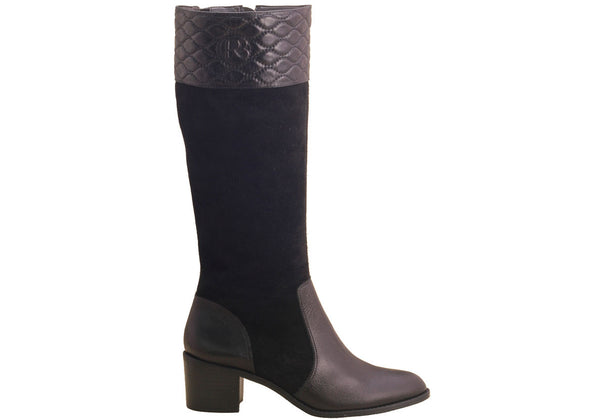RIDING BOOT CHAN BLACK - DPARZ