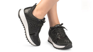 Nellie Black Studded Sneaker