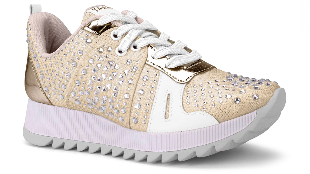 Nellie Gold Studded Sneaker