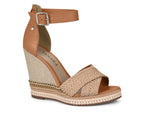 Valencia Canela Strappy Wedge