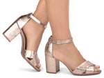 Kenzi Rose Gold Sandal
