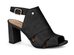 Juliana Peep toe Black Sandal