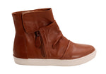 Caramel Sneaker Leather Bootie | Women's High Top Sneaker