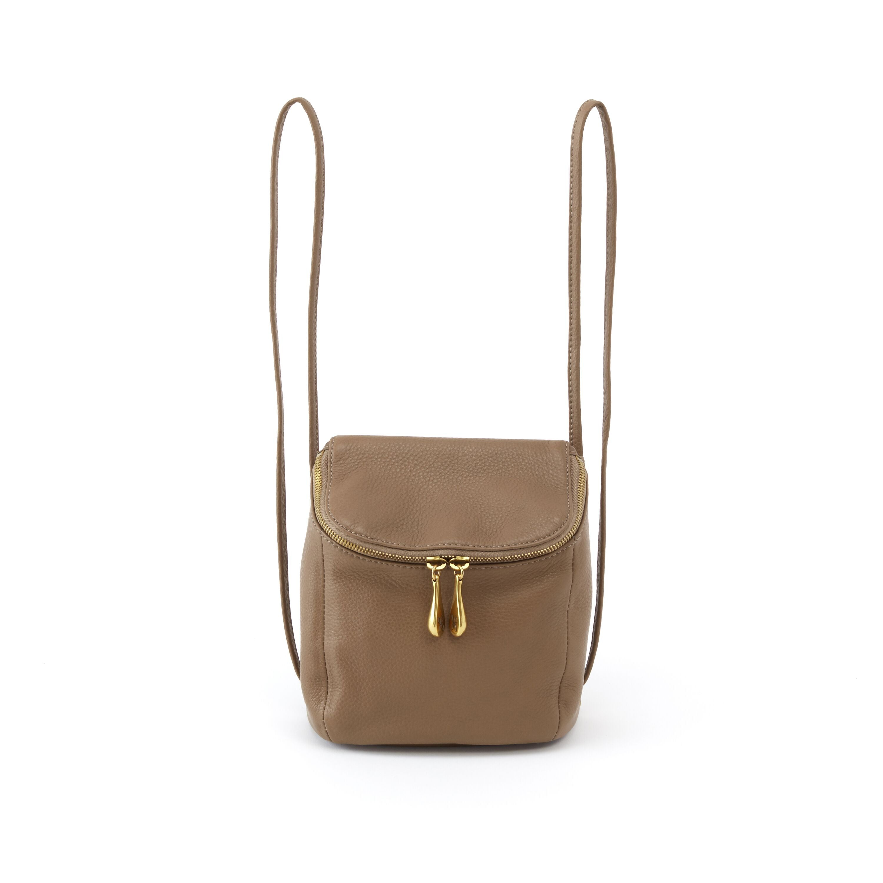 Cher Graystone Leather Mini Backpack