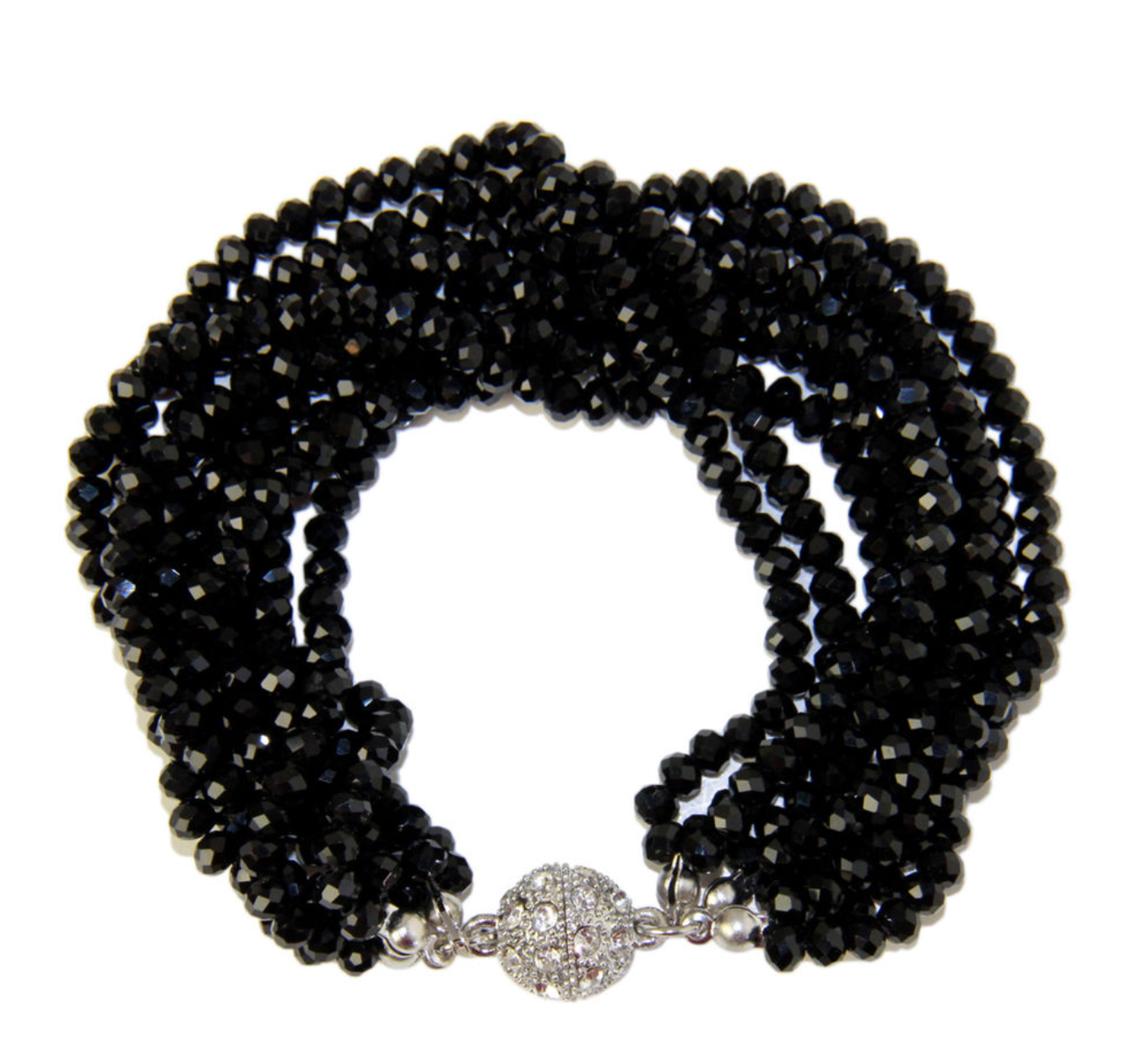 Stylish Multi Strand Black Bracelet