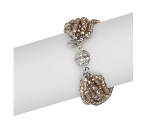 Stylish Multi Strand Crystal Bracelet
