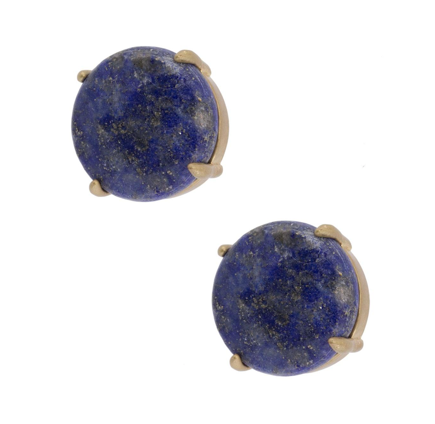 NATURAL STONE STUD BLUE EARRINGS
