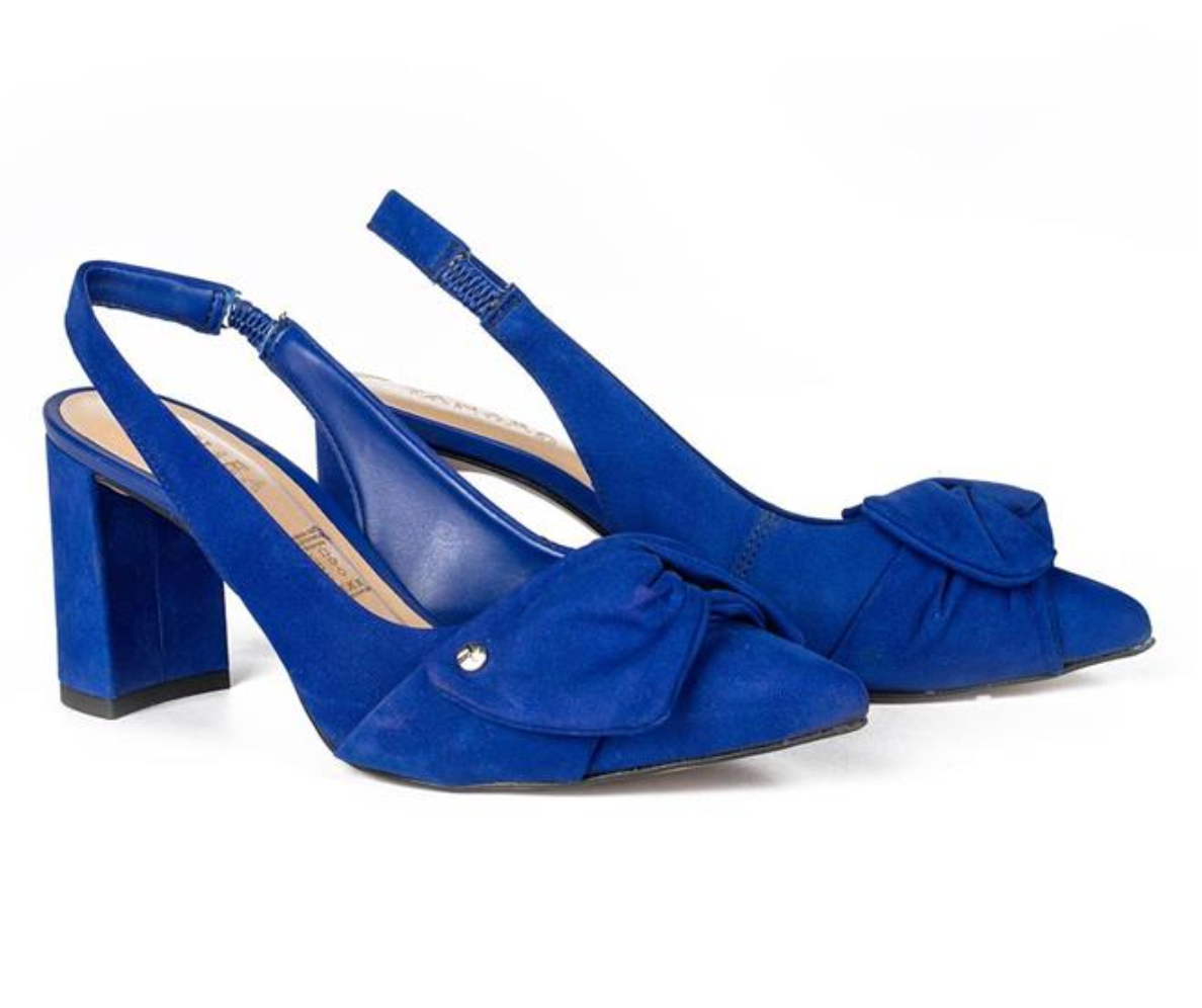 Royal Blue Pointed Toed Bow Sandal I Women's Shoes