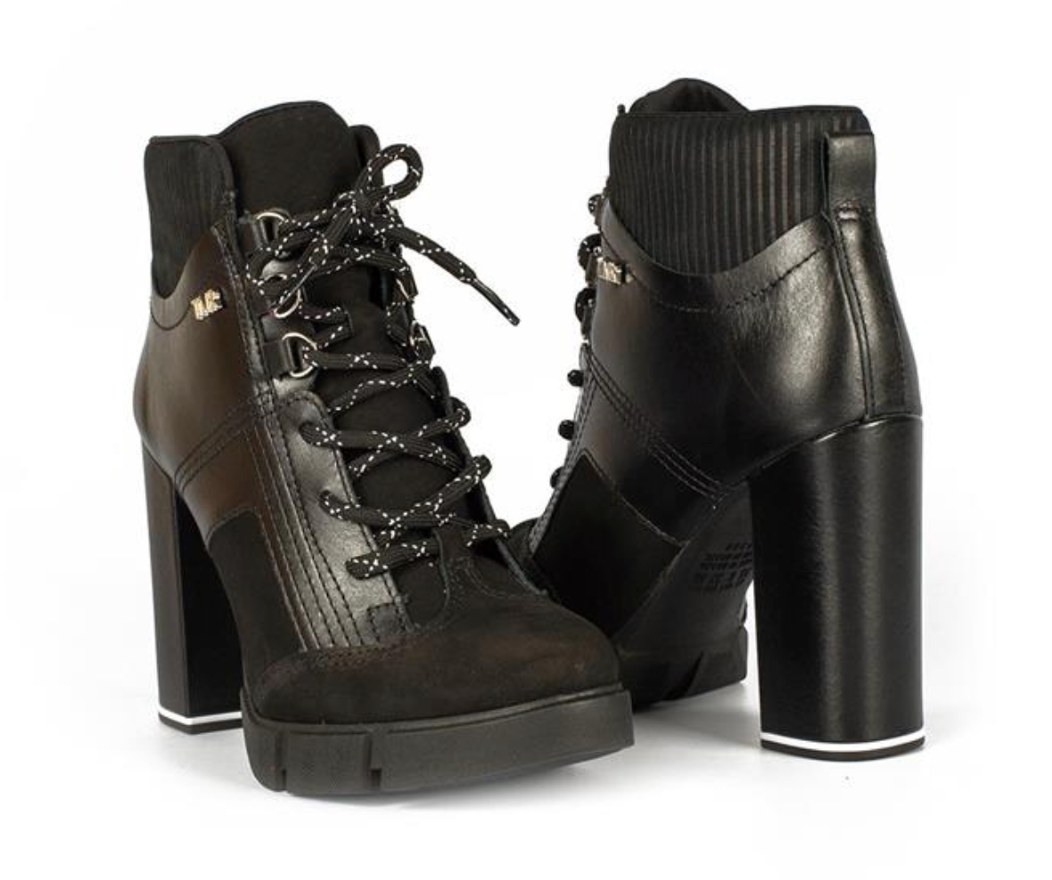 Gill Black Lace Up Bootie