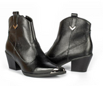 Valeria Silver Tip Ankle Boot