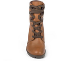 Sara Caramel Lace Up Bootie