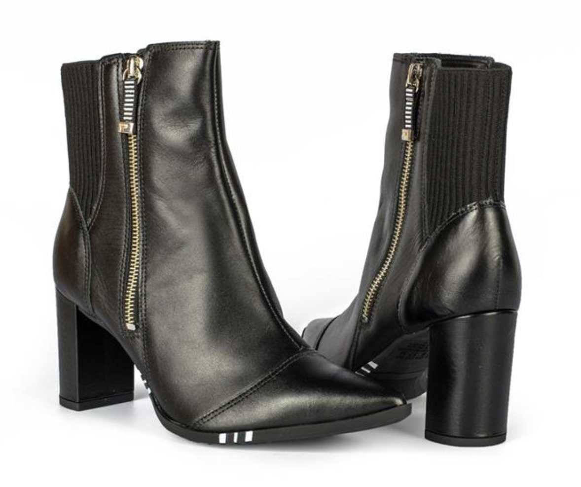 Lucia Black Pointed Toe Booties