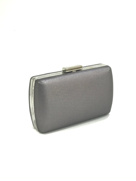 METALLIC BOX CLUTCH SILVER