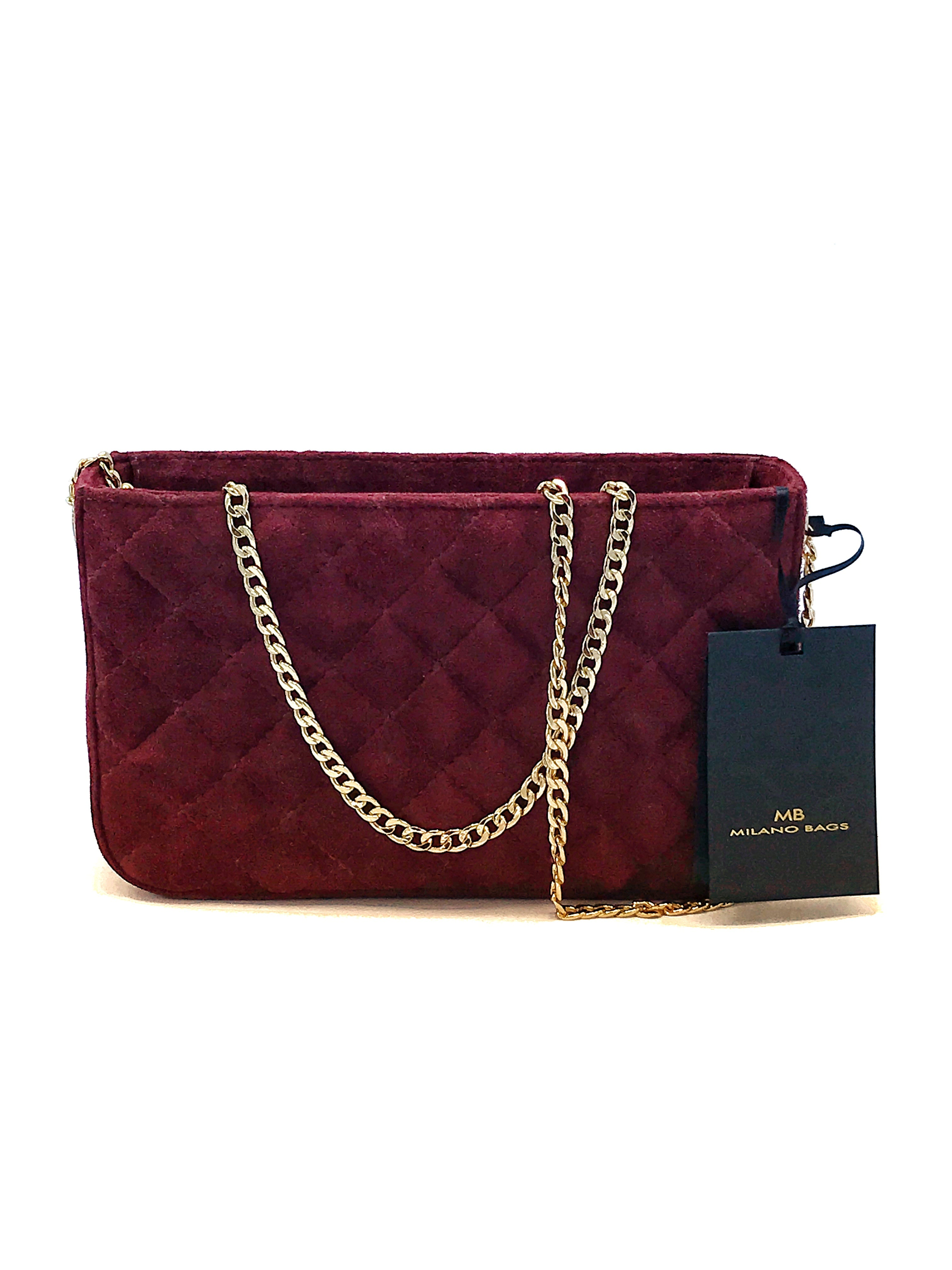 CHERRY SUEDE EVENING BAG DS2872