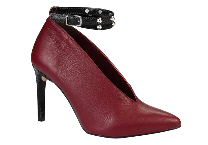 Burgundy Ankle Wrap Pump |Women's  dress shoes |Dparz Shoes