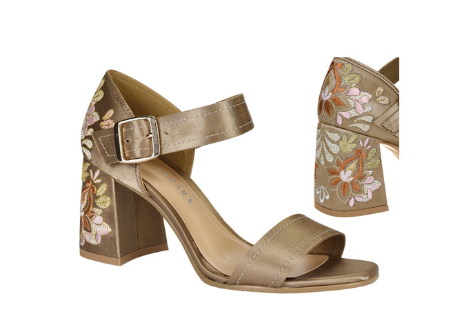 Duchese Satin Sand Sandals T0971