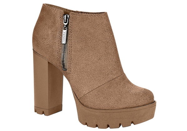Palley Tan raised chunky Platform Bootie | women's high heel