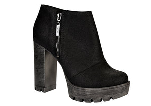 Palley black raised platform bootie | women's high heel ankle bootie