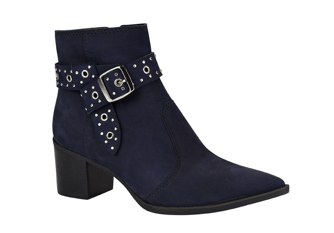 Navy Pointy toe suede bootie | Boots & Ankle Booties for Women