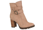 Blush Tall Buckled Ankle Bootie |Pale Pink Women's Bootie