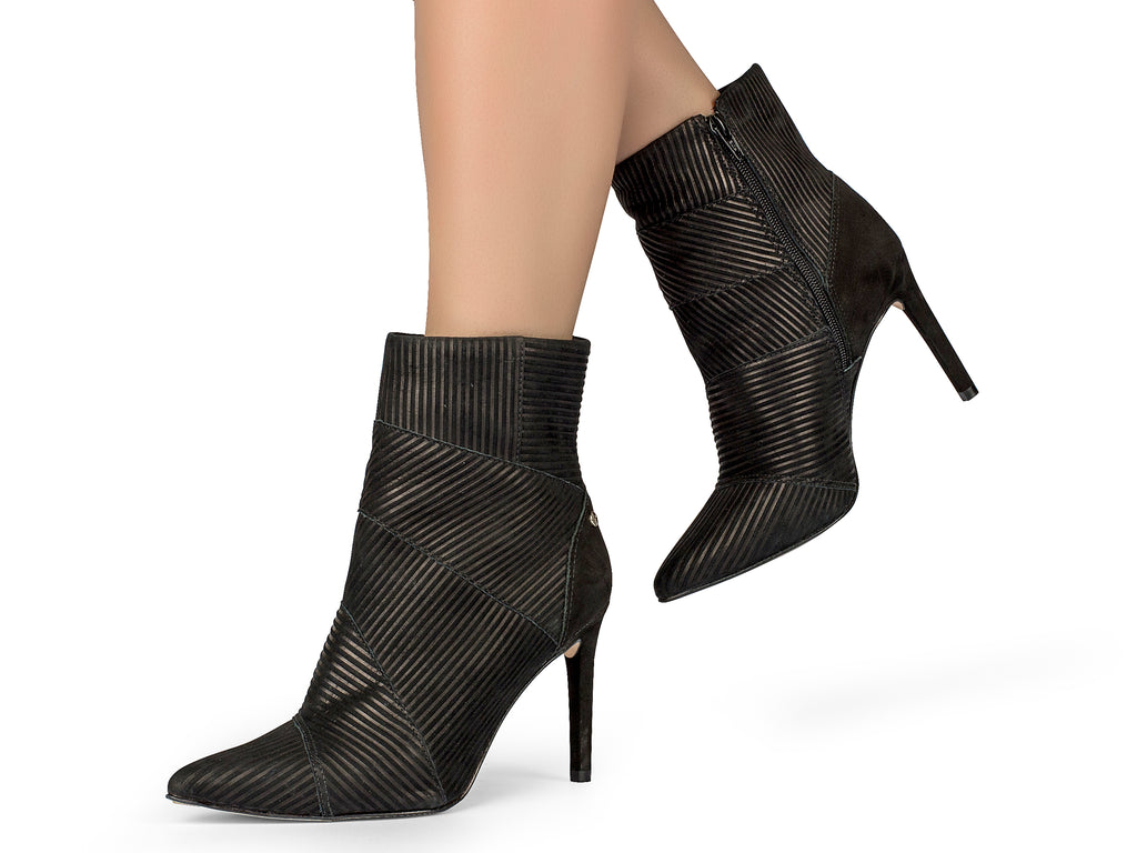 Camila Black Stiletto Bootie