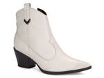 Valeria White Ankle Boot