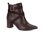 Grace Taupe Buckled Bootie