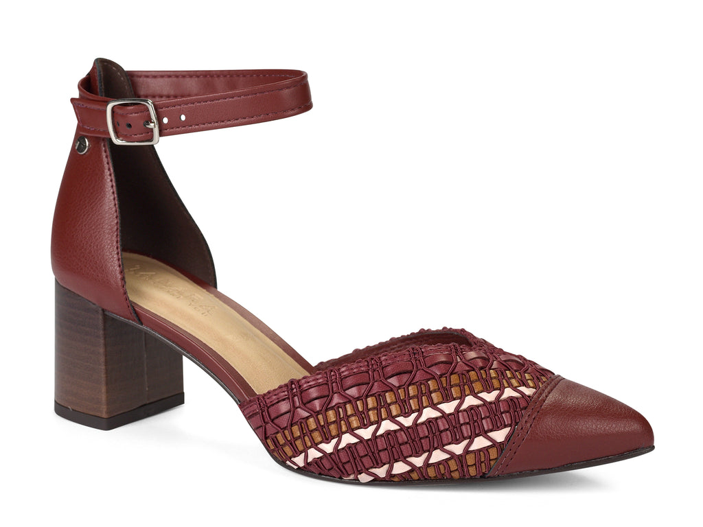 Maroon Closed Toe Slingback Pump | Women's Shoes