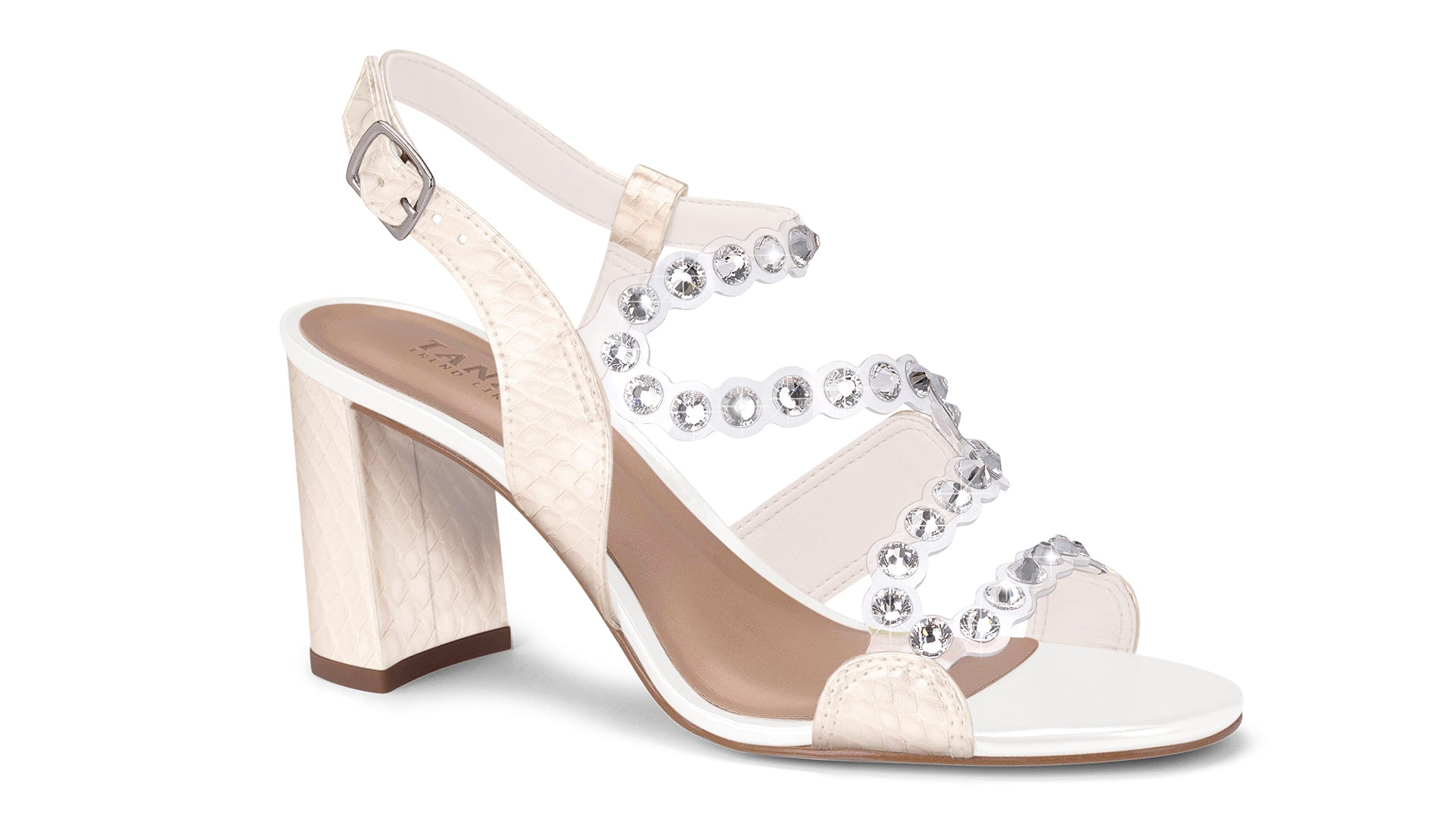 Gloriana White Sandal