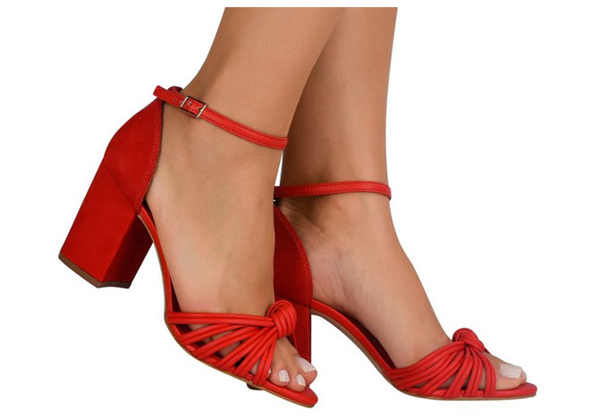 Flann Red Sandal T1628