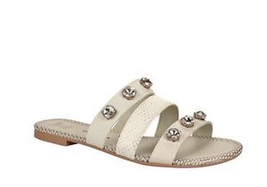 White Strap Gobble Sandals T1842